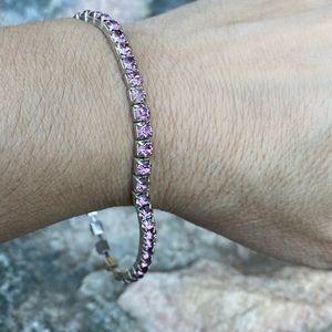 ⚡️Stretchy light pink jeweled bracelet